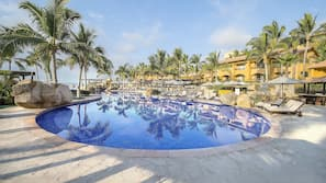 6 outdoor pools, cabanas (surcharge), pool umbrellas