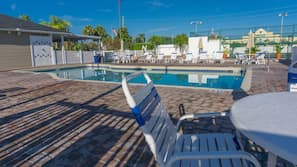 2 outdoor pools, open 7:00 AM to midnight, pool umbrellas, sun loungers