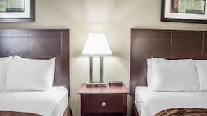 Pillowtop beds, blackout drapes, iron/ironing board, WiFi