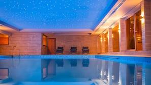 Indoor pool, pool loungers