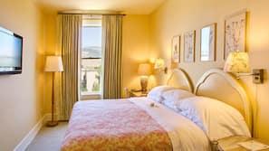 Frette Italian sheets, premium bedding, down duvets, pillow-top beds