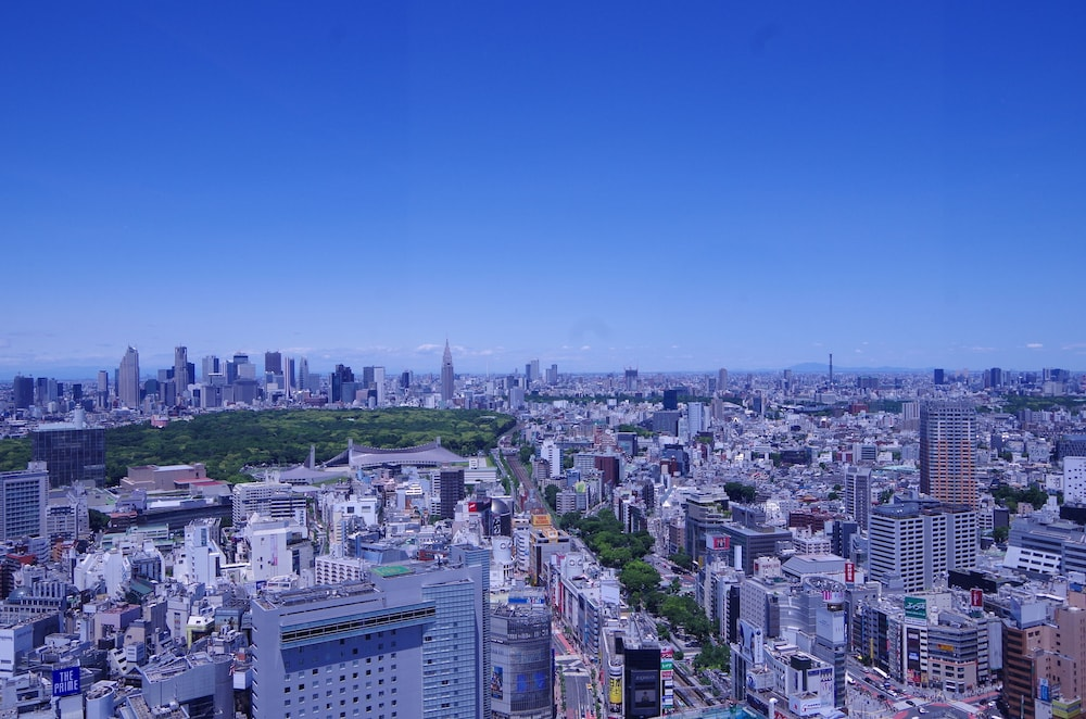 View from Room, Cerulean Tower Tokyu Hotel