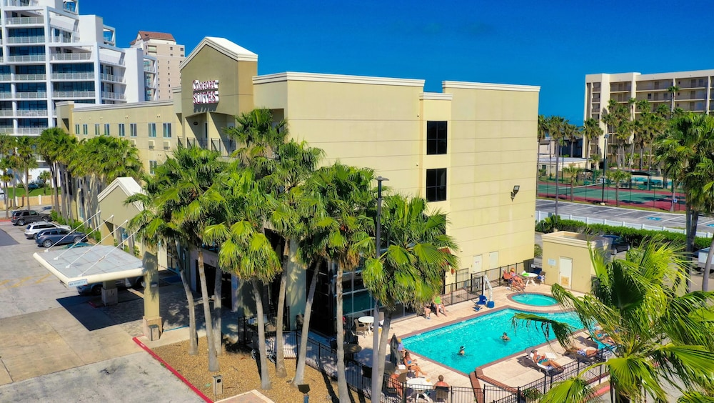 Aerial View, Comfort Suites South Padre Island