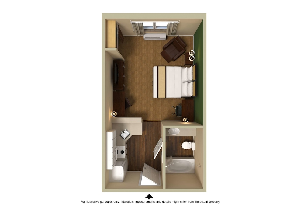 Floor plan, Extended Stay America Milwaukee - Wauwatosa