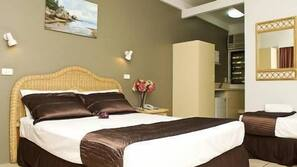 In-room safe, iron/ironing board, cribs/infant beds, alarm clocks