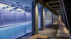 Innendørsbasseng og utendørsbasseng