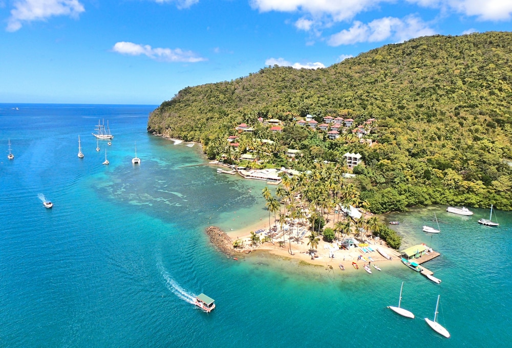 Aerial View, Marigot Beach Club and Dive Resort