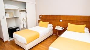 Ropa de cama hipoalergénica y minibar