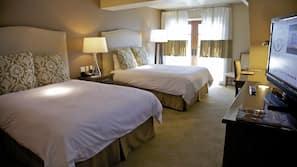 Egyptian cotton sheets, desk, iron/ironing board, free WiFi