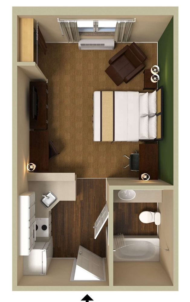 Floor plan, Extended Stay America Pleasant Hill - Buskirk Avenue