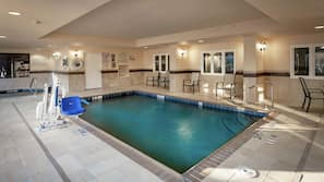 Indoor pool, outdoor pool, open 10:00 AM to 10:00 PM, sun loungers