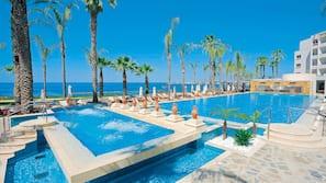Indoor pool, 2 outdoor pools, open 10:00 AM to 6:30 PM, pool umbrellas