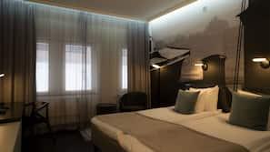 Luxe beddengoed, een kluis op de kamer, geluiddichte muren