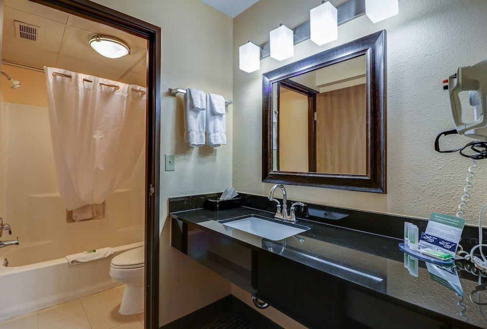 Bathroom, American Inn and Suites