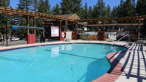 室外泳池;10:00 至 22:00 開放;泳池傘