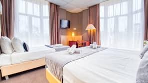Safe på rommet, wi-fi (inkludert) og sengetøy