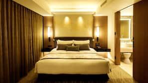 Down duvets, Select Comfort beds, in-room safe, desk