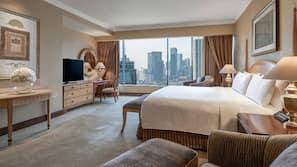 Premium bedding, down duvet, free minibar items, in-room safe