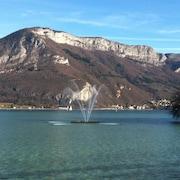Vue sur lac