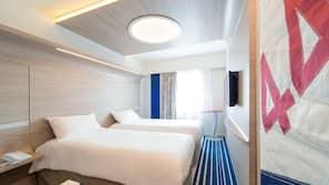 Ropa de cama de alta calidad, cortinas opacas, sistema de insonorización