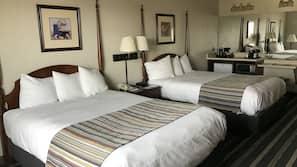 Roupas de cama premium, cofres nos quartos, individualmente mobiliados