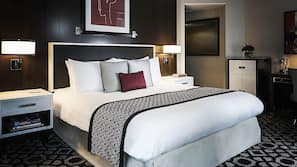 Premium bedding, pillow top beds, minibar, in-room safe