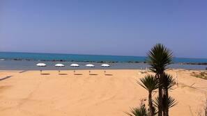 Sabbia bianca, navetta per la spiaggia, motonautica