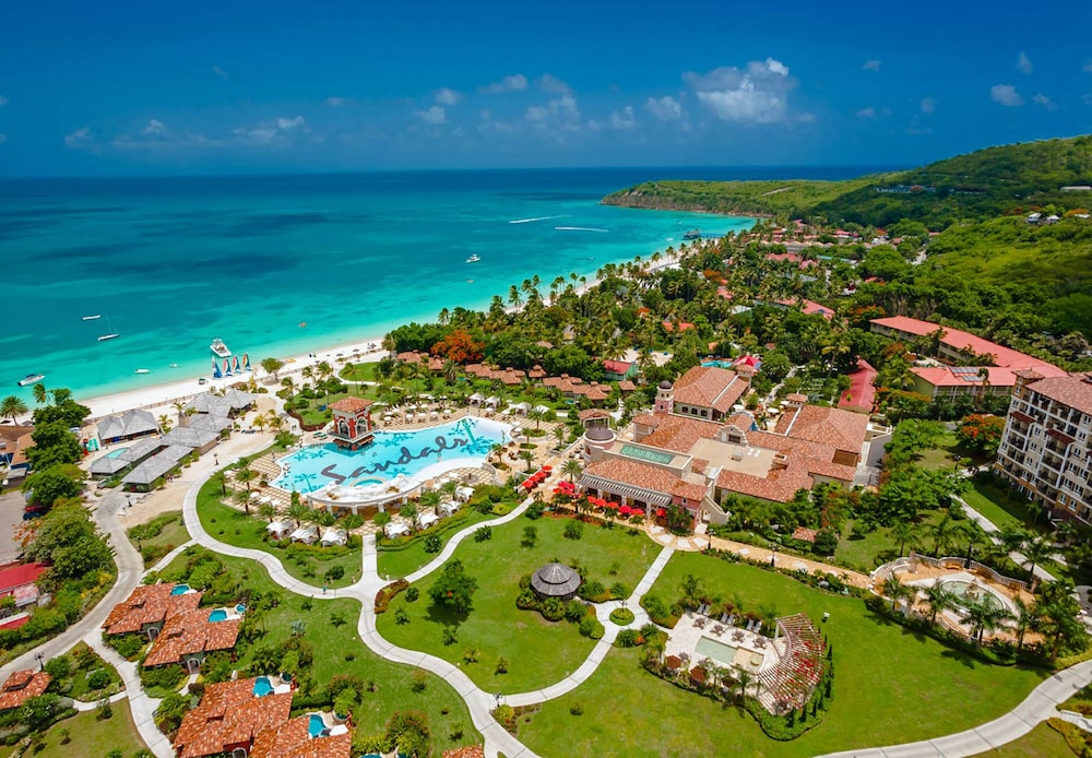 Aerial View, Sandals Grande Antigua - ALL INCLUSIVE Couples Only