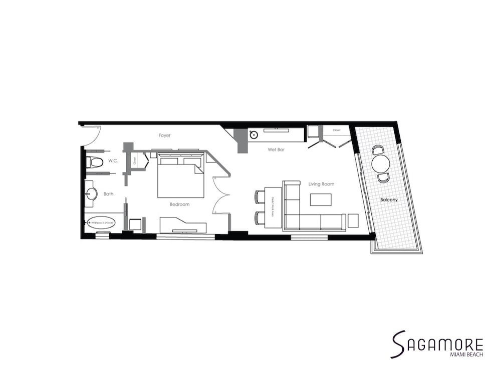 Floor plan, Sagamore South Beach