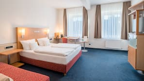 Premium bedding, minibar, in-room safe, laptop workspace