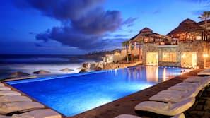 5 개의 야외 수영장, 수영장 파라솔