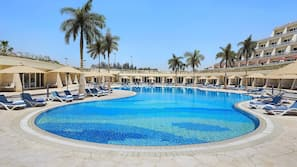 Indoor pool, outdoor pool, open 8:00 AM to 6:00 PM, cabanas (surcharge)