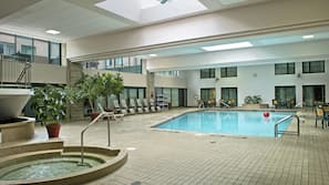 Indoor pool, open 6 AM to 10 AM, sun loungers