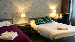 Egyptian cotton sheets, pillow-top beds, desk, soundproofing