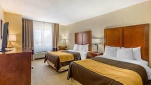 Premium bedding, down comforters, memory foam beds, iron/ironing board