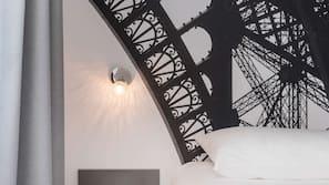 Premium bedding, pillowtop beds, blackout drapes, soundproofing