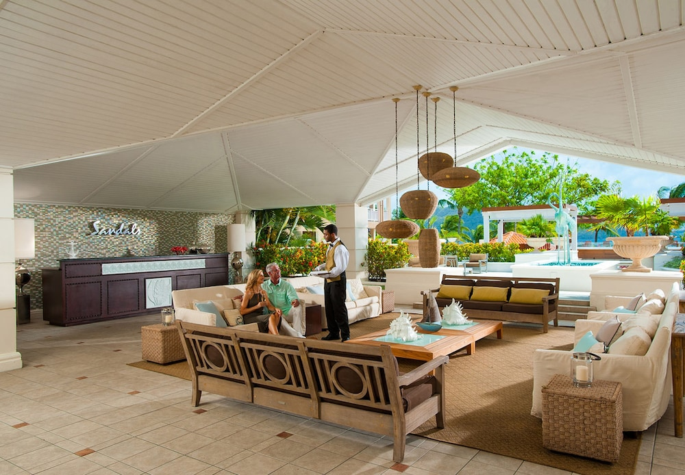 Lobby Sitting Area, Sandals Grande St. Lucian - ALL INCLUSIVE Couples Only