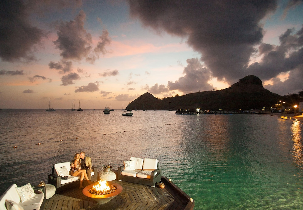 Fireplace, Sandals Grande St. Lucian - ALL INCLUSIVE Couples Only