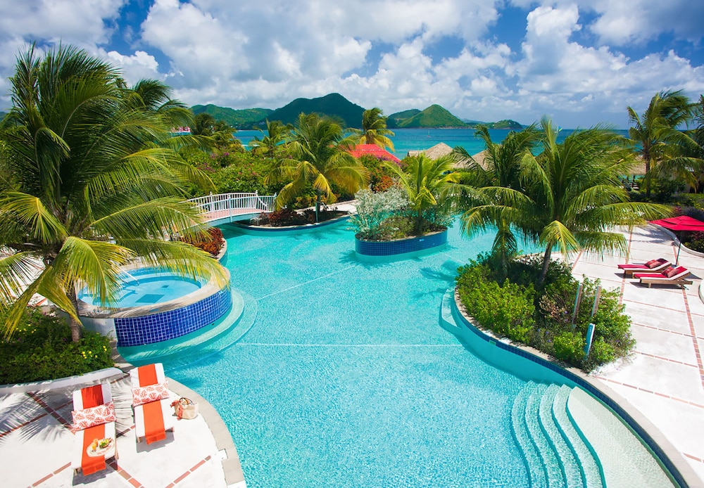 Outdoor Pool, Sandals Grande St. Lucian - ALL INCLUSIVE Couples Only