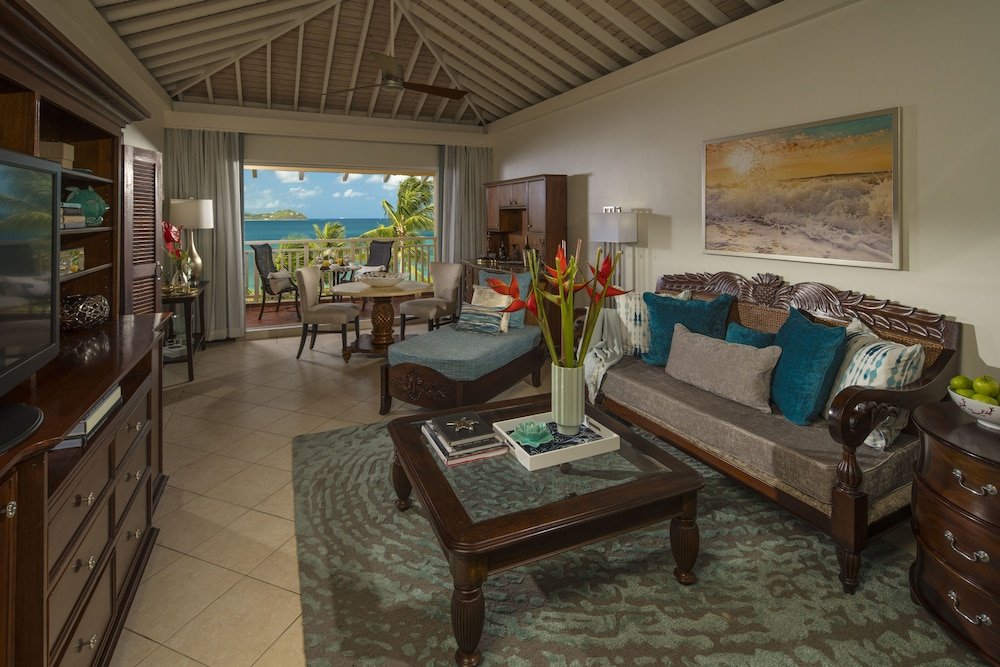 Living Area, Sandals Grande St. Lucian - ALL INCLUSIVE Couples Only