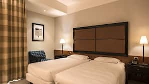 Down duvet, pillow top beds, minibar, in-room safe