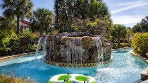 2 buitenzwembaden, zwembadcabana's (toeslag)