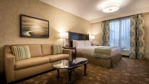 Premium bedding, down duvets, pillow-top beds, desk