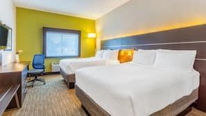 Pillow top beds, in-room safe, desk, laptop workspace