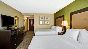 Pillowtop beds, desk, blackout drapes, soundproofing