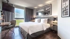 1 間臥室、高級寢具、特厚豪華床墊、房內夾萬