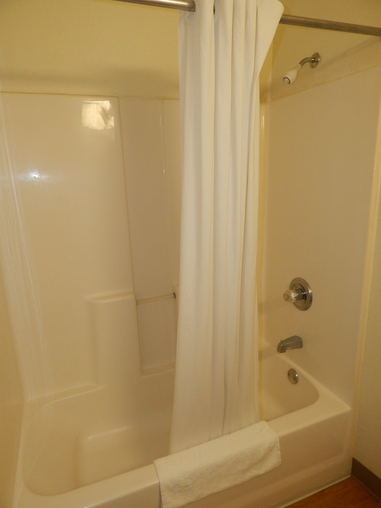 Bathroom, InTown Suites Extended Stay Lewisville TX East Corporate Drive