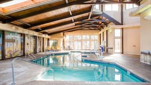 Indoor pool, seasonal outdoor pool, free cabanas, pool umbrellas