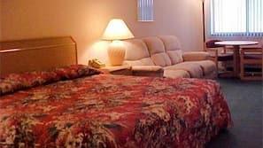 Hypo-allergenic bedding, iron/ironing board, free WiFi, alarm clocks