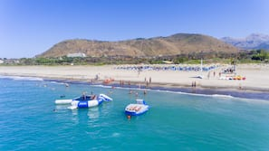 Plage privée à proximité, sable blanc, navette gratuite vers la plage